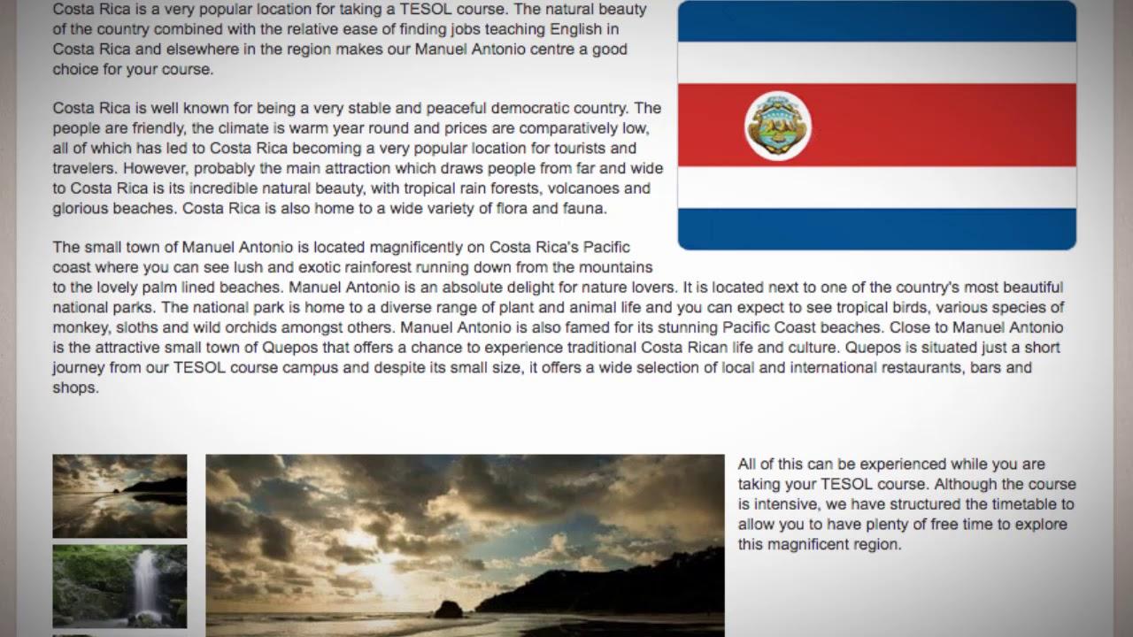 TESOL Course in Manuel Antonio, Costa Rica | Teach & Live abroad!