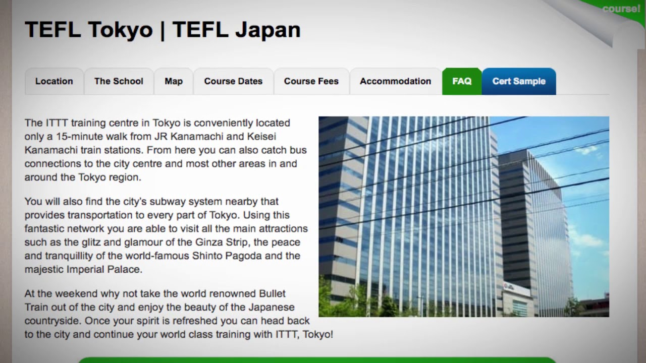 Welcome to Our TEFL / TESOL School in Tokyo, Japan | Teach & Live abroad!