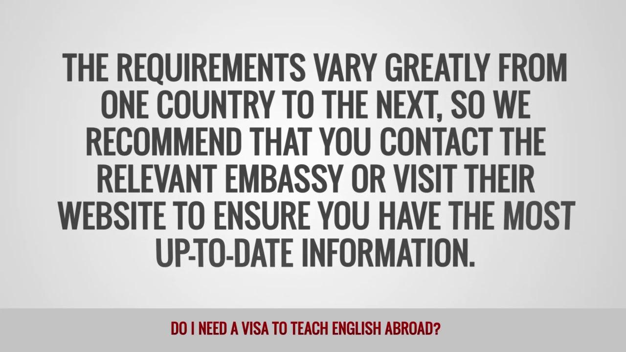 ITTT FAQs – Visa & Documents For Teaching English Abroad