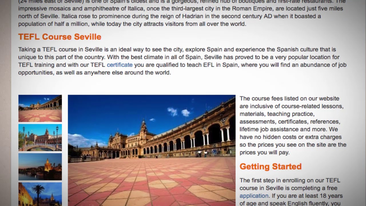 TEFL / TESOL Course in Seville, Spain | Teach & Live abroad!