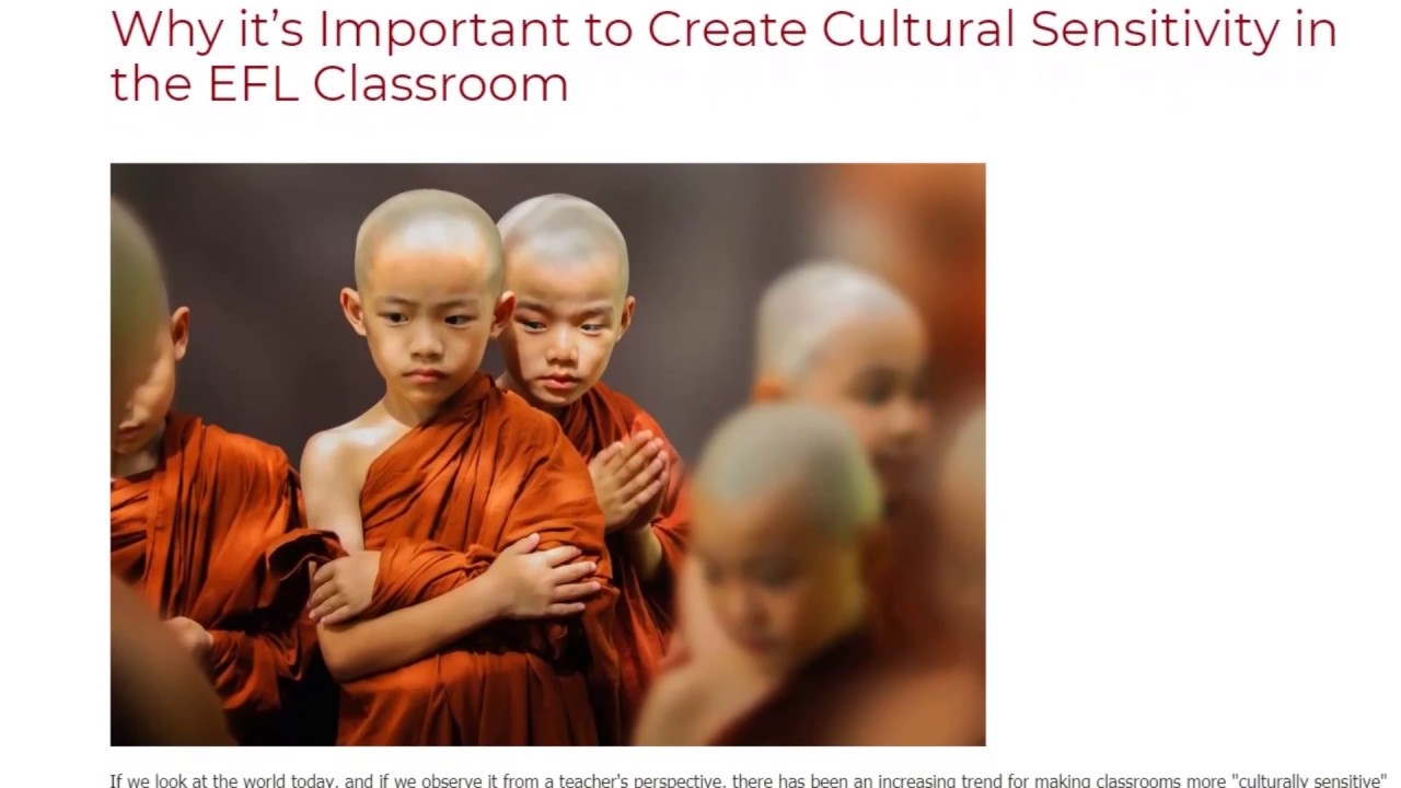 Why it's Important to Create Cultural Sensitivity in the EFL Classroom | ITTT TEFL BLOG