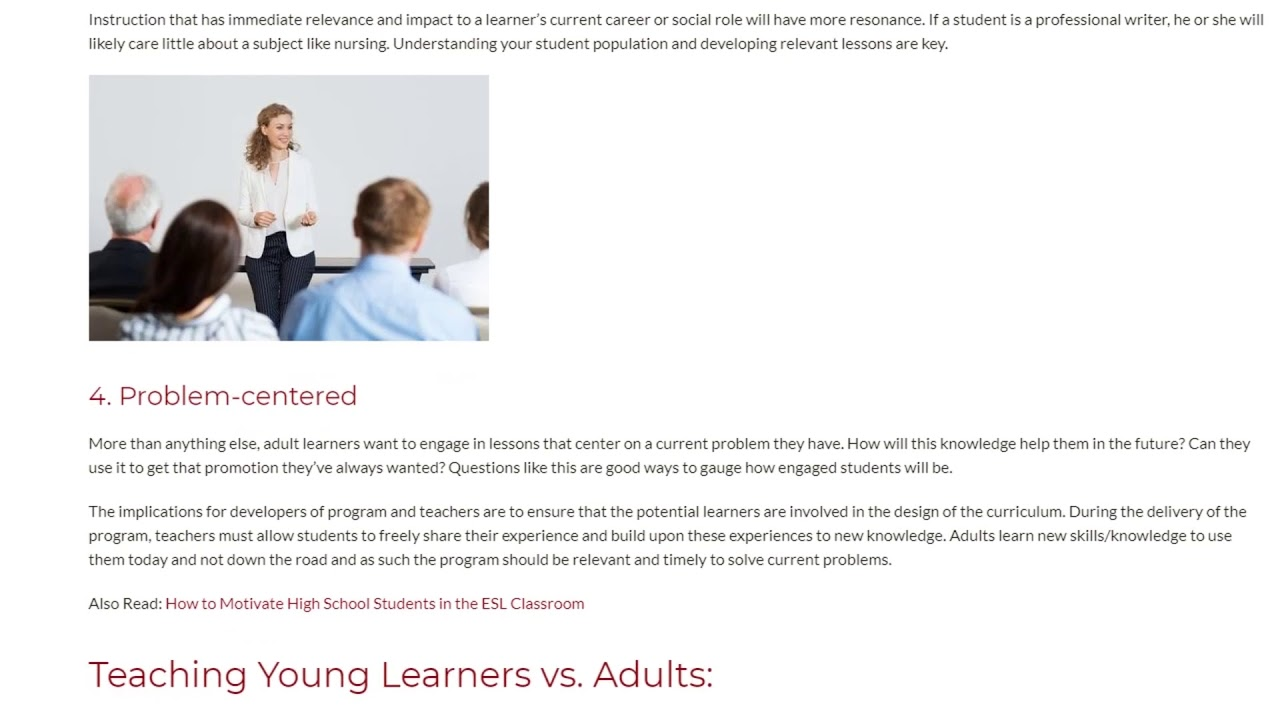 Learning Modes Young Learners vs Adults | ITTT TEFL BLOG