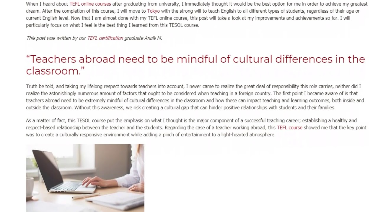 What is the best thing I've learned from my TESOL course   ITTT TEFL BLOG