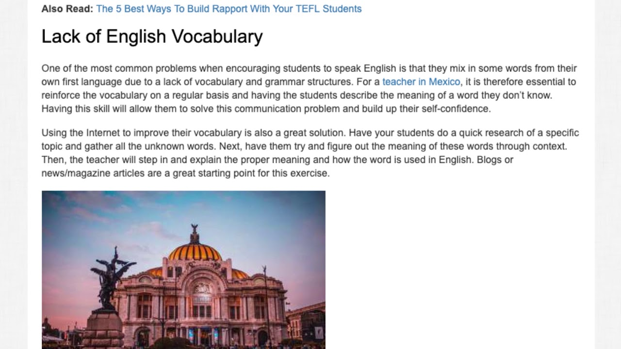 The Most Common Problems Students in Mexico Face When Learning English | ITTT TEFL BLOG