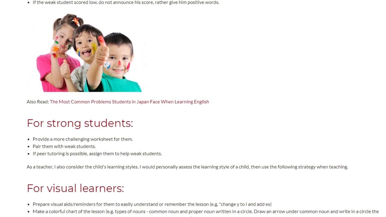 Teaching Children With Varying Learning Abilities | ITTT TEFL BLOG