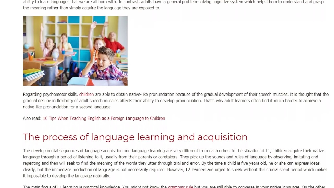 Common Factors that Affect 1st Language and 2nd Language Learning | ITTT TEFL BLOG