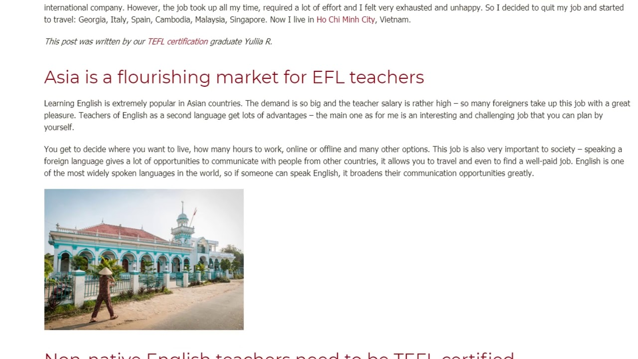 The Best Thing I've Learned From My TEFL/TESOL Course with ITTT | ITTT TEFL BLOG