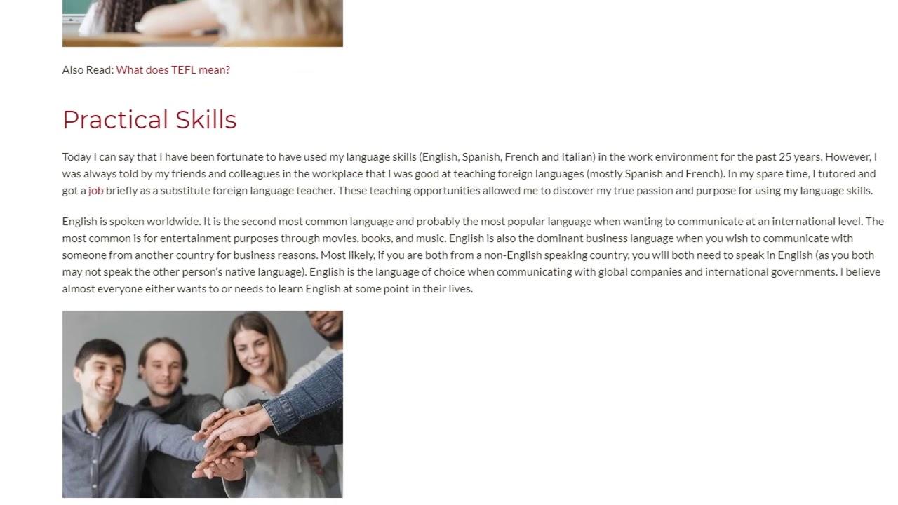 Benefits You Can Get if You Obtain a TEFL Certificate   ITTT TEFL BLOG