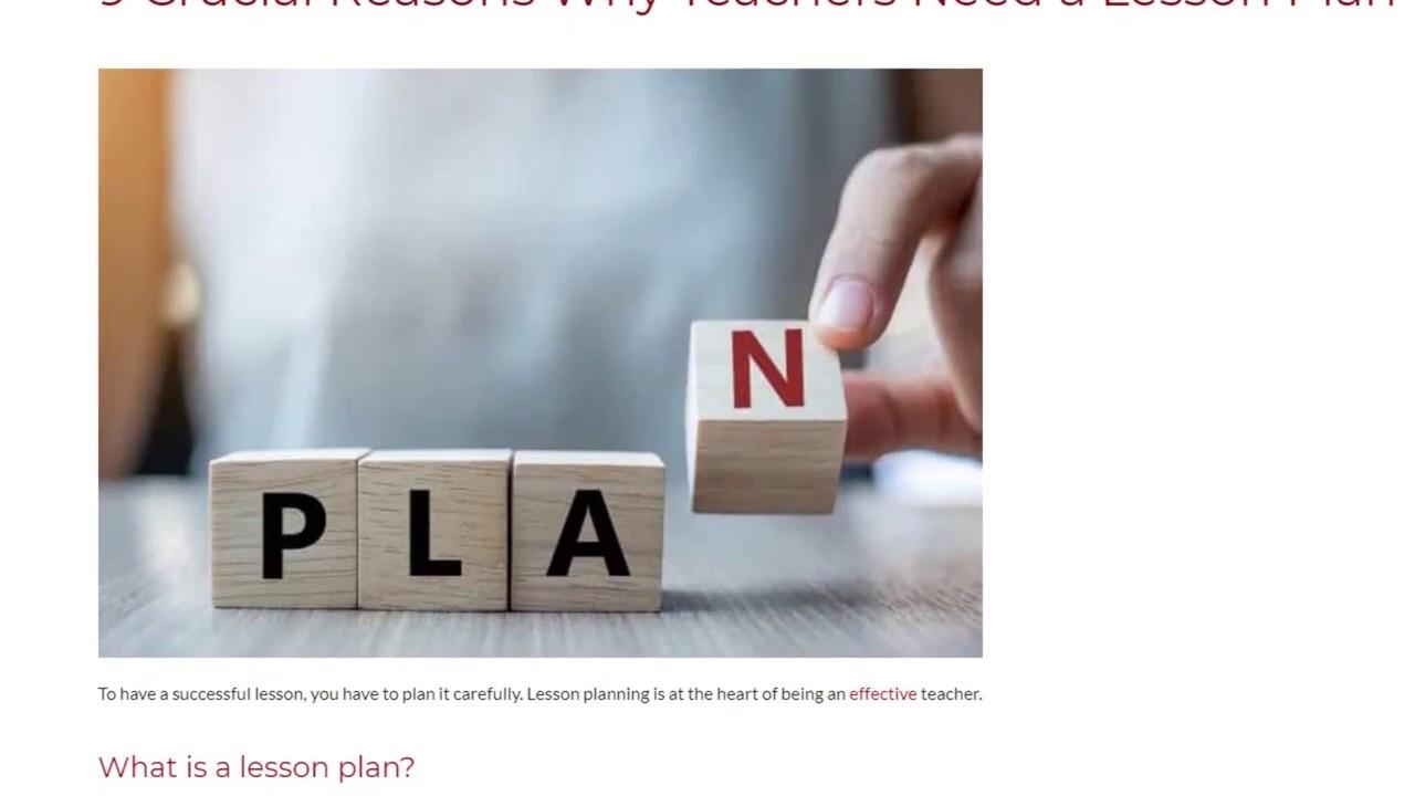 9 Crucial Reasons Why Teachers Need a Lesson Plan | ITTT TEFL BLOG