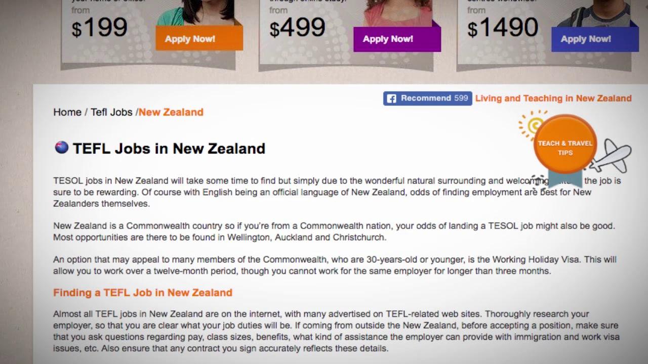 TEFL/TESOL Jobs in New Zealand   International TEFL and TESOL Training (ITTT)