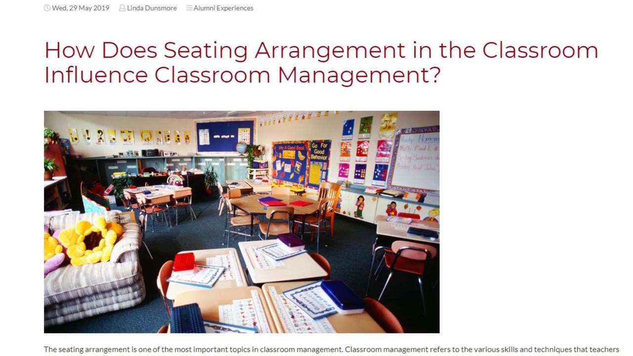 How Does Seating Arrangement in the Classroom Influence Classroom Management? | ITTT TEFL BLOG