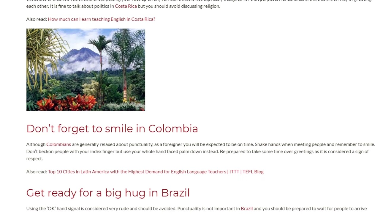 Rules of Etiquette in 4 Latin American Countries | ITTT TEFL BLOG