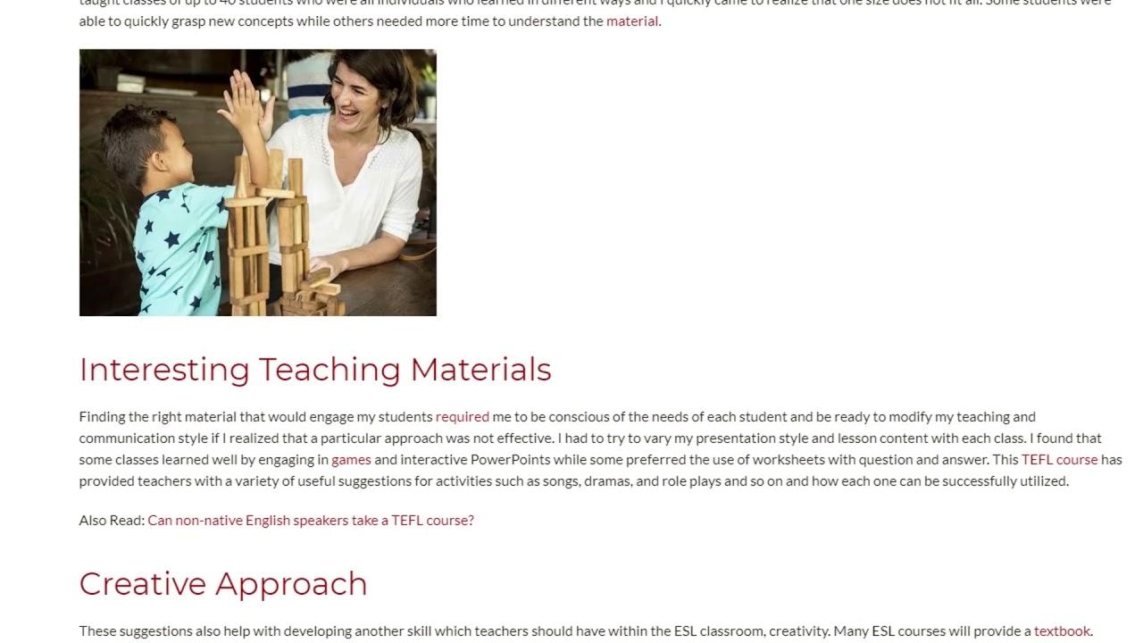 Skills of the Top-Notch ESL Teacher   ITTT TEFL BLOG