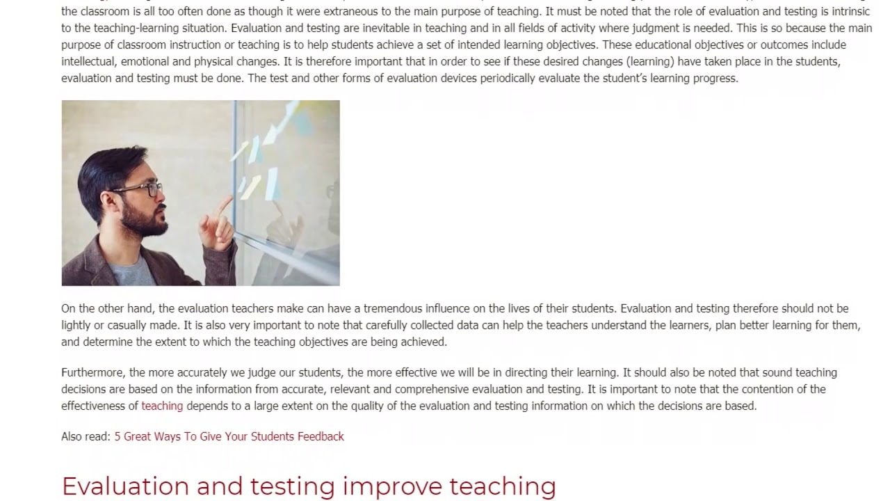 4 Insights on the Role of Evaluation and Testing in Education | ITTT TEFL BLOG