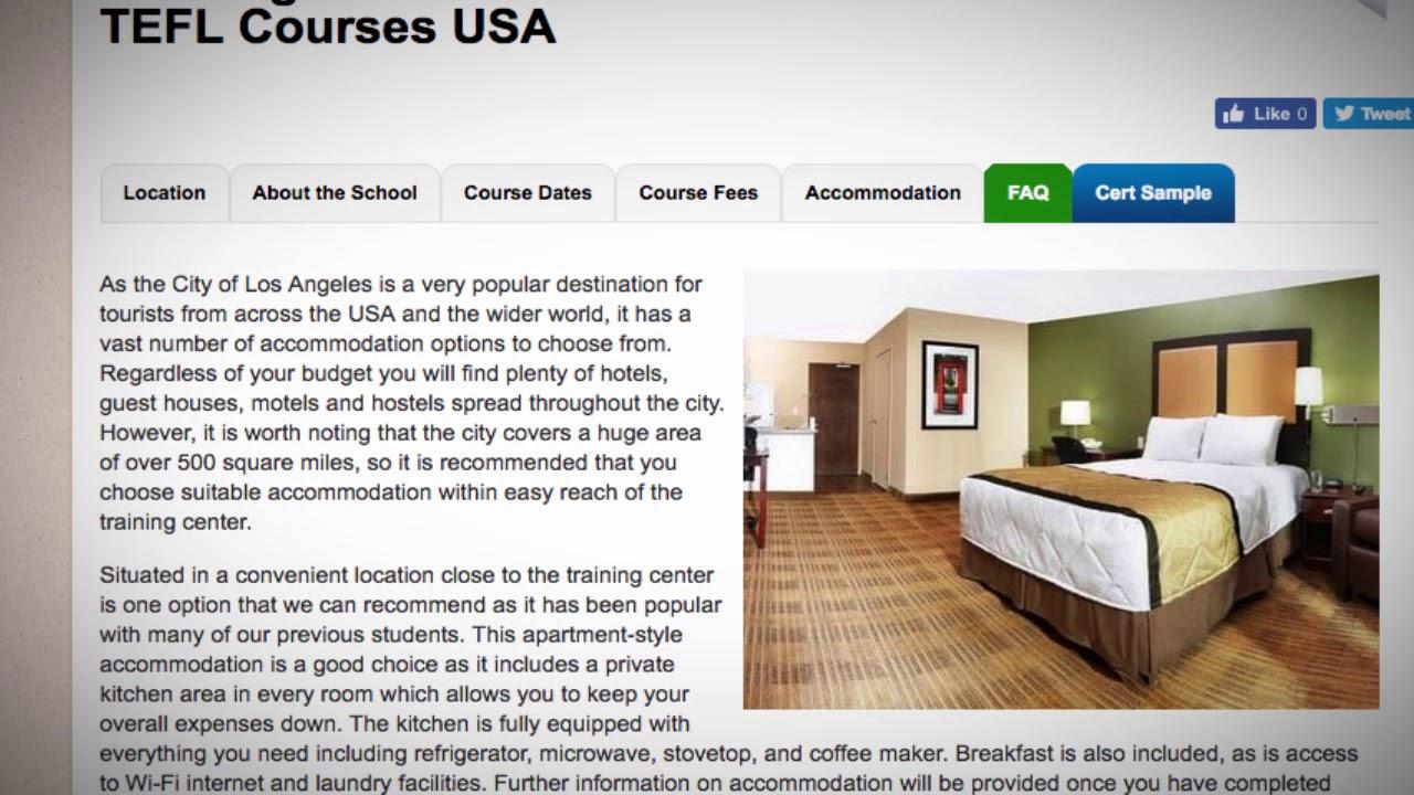 TEFL / TESOL School Accommodation in Los Angeles, USA | Teach & Live abroad!
