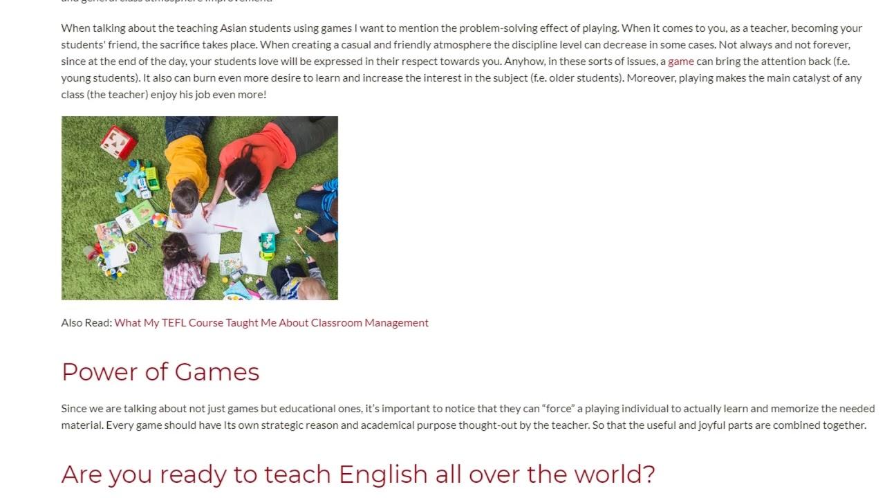 Most Popular Games in the ESL Teaching | ITTT TEFL BLOG