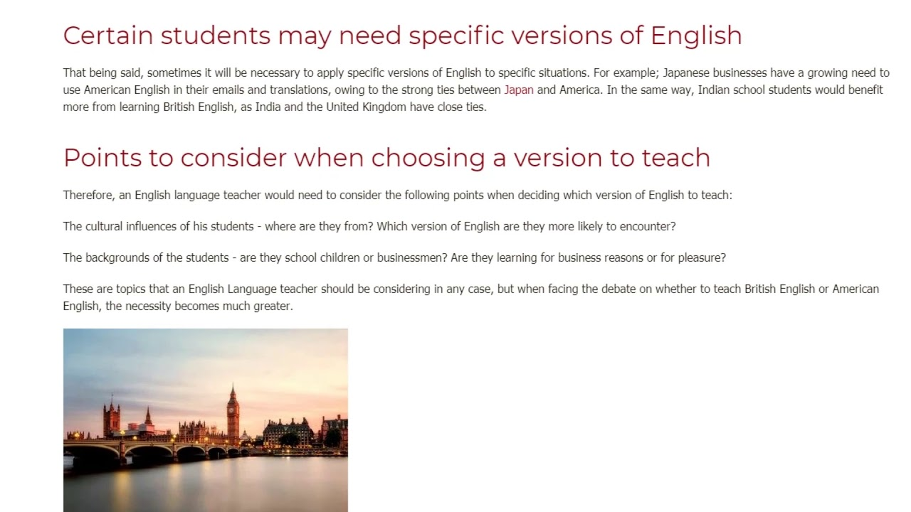 British English vs American English. Which is Better | ITTT TEFL BLOG