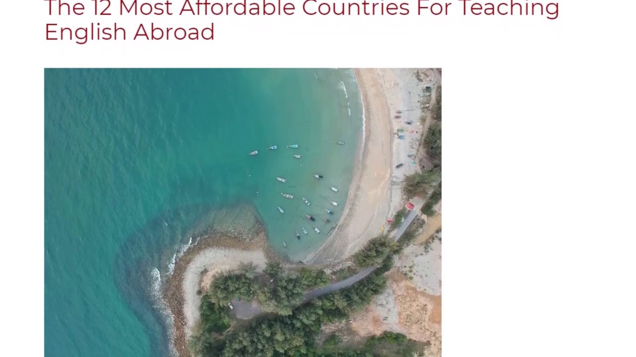 The 12 Most Affordable Countries For Teaching English Abroad | ITTT TEFL BLOG