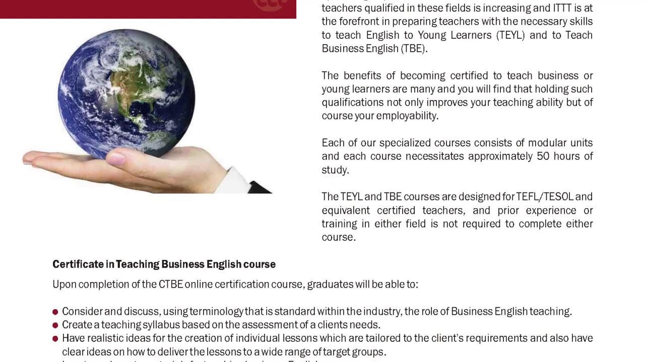 International TEFL and TESOL Training (ITTT)   TEFL/TESOL Online Specialization Courses