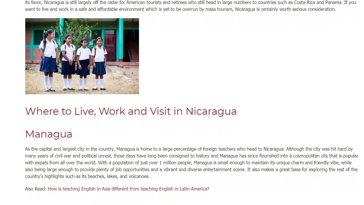 Nicaragua – the Rising Star for EFL Teaching in Central America | ITTT TEFL BLOG