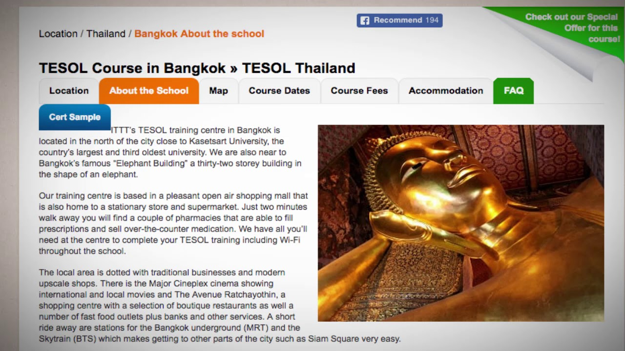 Welcome to Our TEFL / TESOL School in Bangkok, USA   Teach & Live abroad!