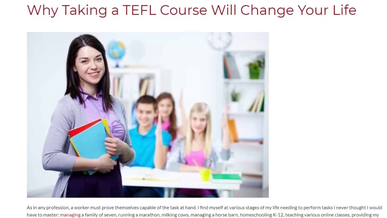 Why Taking a TEFL Course Will Change Your Life | ITTT TEFL BLOG
