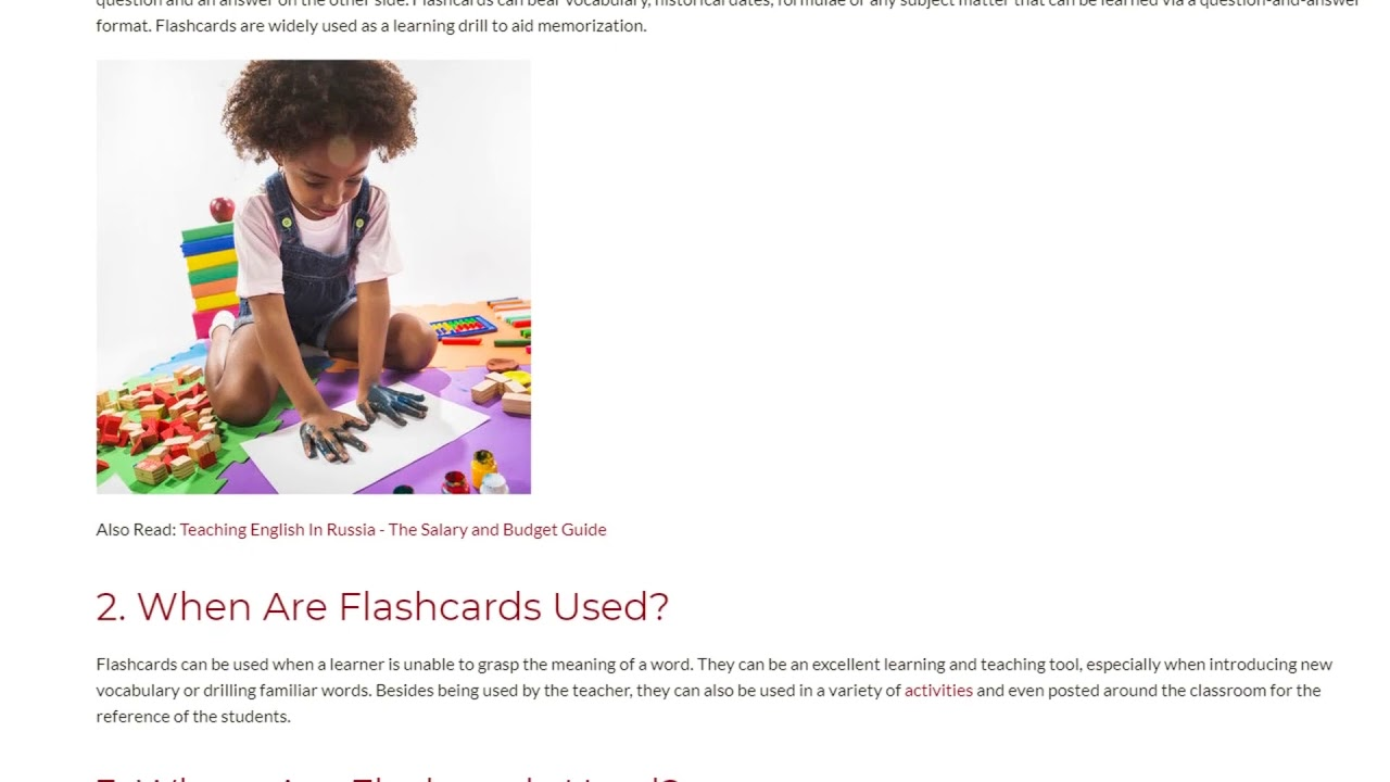 6 Reasons To Use Flashcards When Teaching Teenagers And Adults | ITTT TEFL BLOG