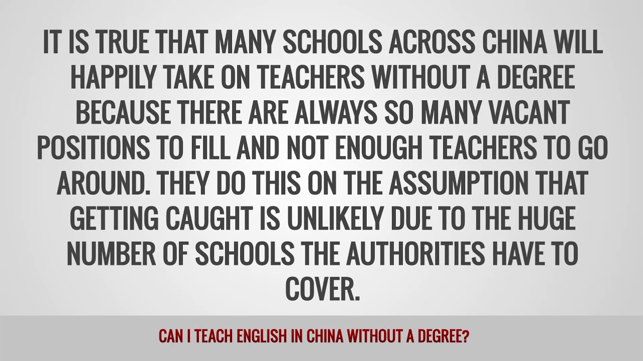 ITTT FAQs – Can I teach English in China without a degree?