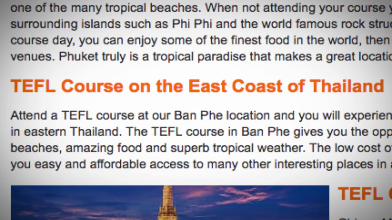 TEFL / TESOL Course in Thailand | Teach & Live abroad!