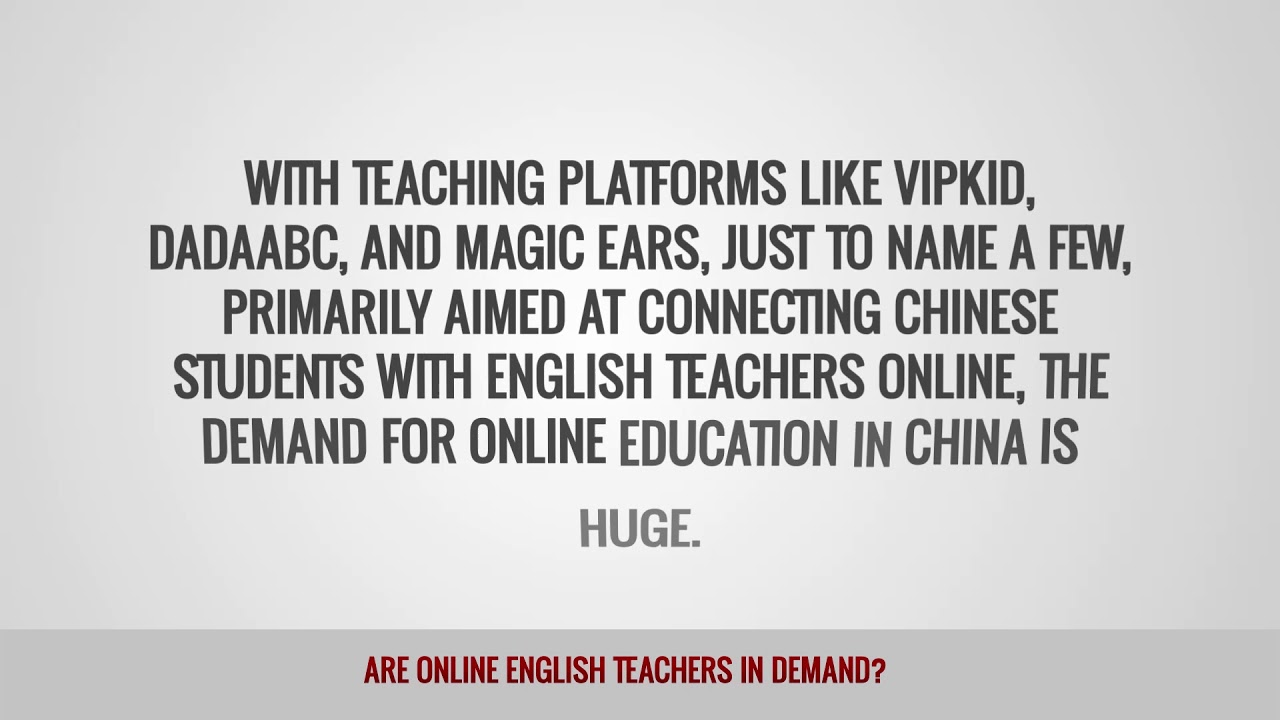 ITTT FAQs – Are online English teachers in demand?