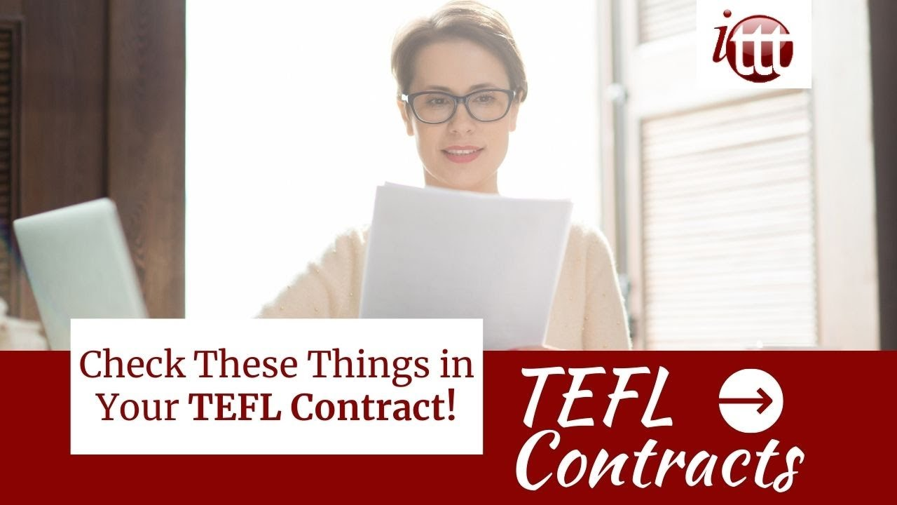 Check These Things in Your TEFL Contract!  | TEFL Contract Tips