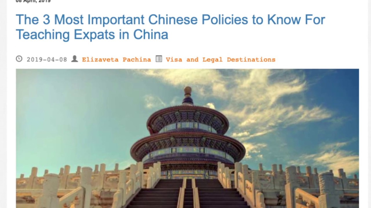 The 3 Most Important Chinese Policies to Know For Teaching Expats in China | ITTT TEFL BLOG