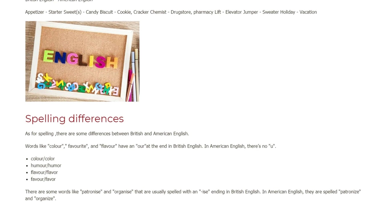 The Most Important Differences Between British and American English | ITTT TEFL BLOG