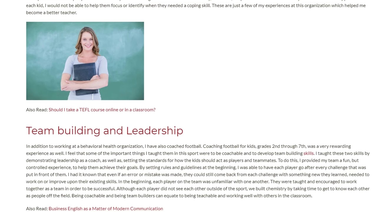 How Your Teaching Experience Can Help You With a TEFL Course | ITTT TEFL BLOG