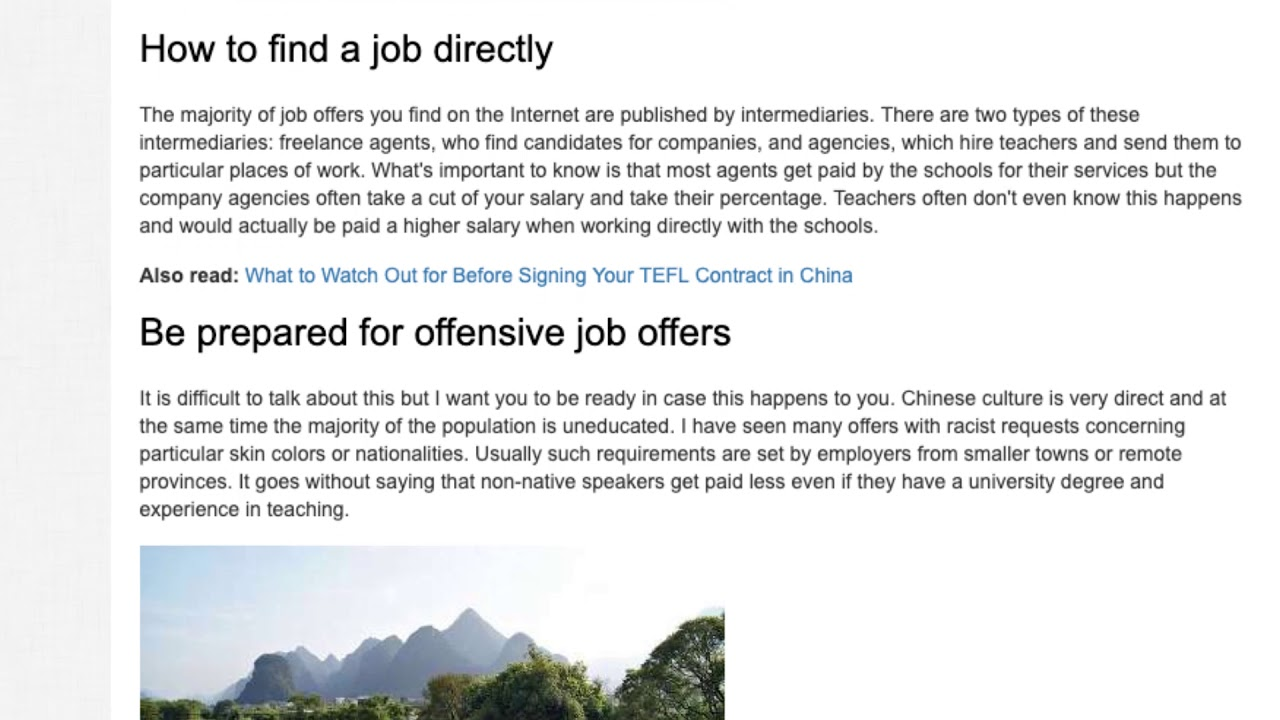 Top 4 Tips How to Find a Teaching Job in China | ITTT TEFL BLOG