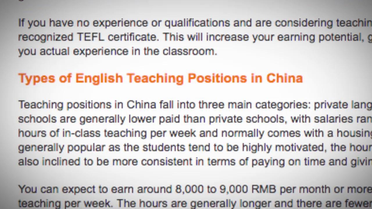 TEFL/TESOL Jobs in China   International TEFL and TESOL Training (ITTT)