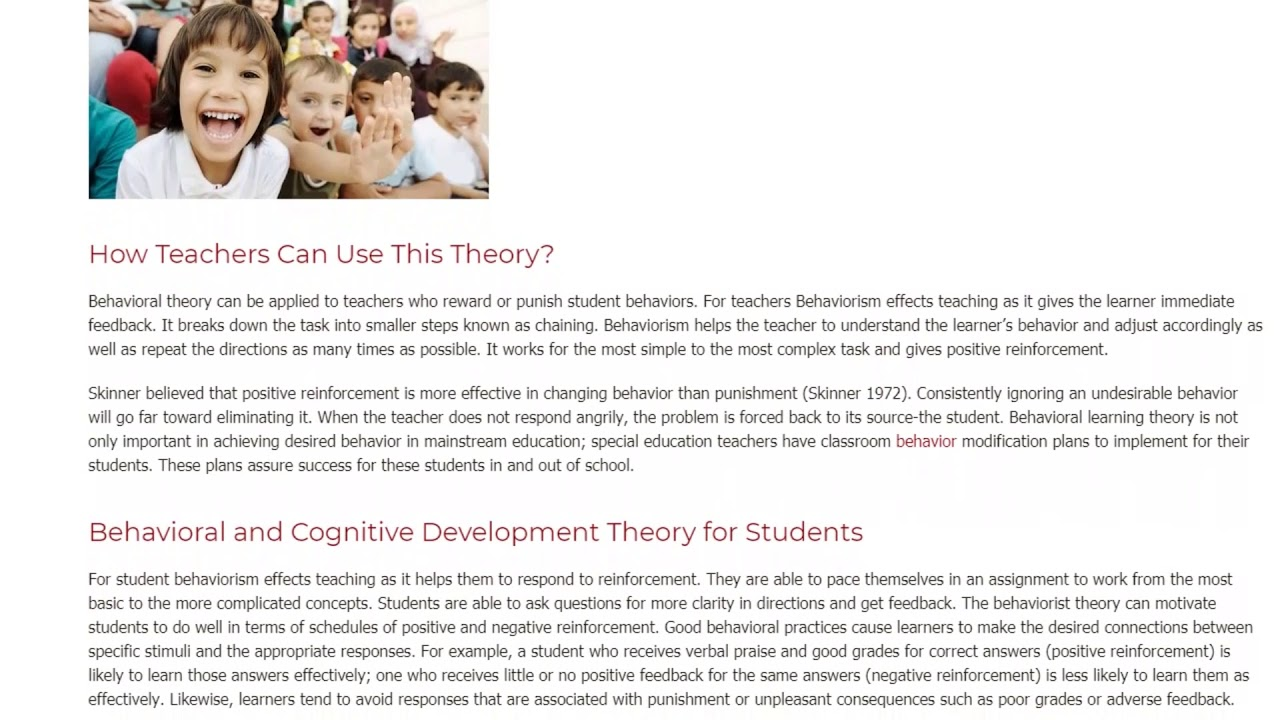 Behavioral and Cognitive Development Theory in Teaching | ITTT TEFL BLOG