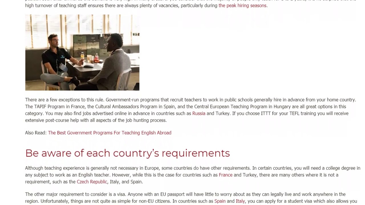 Top Tips for Teaching English in Europe | ITTT TEFL BLOG