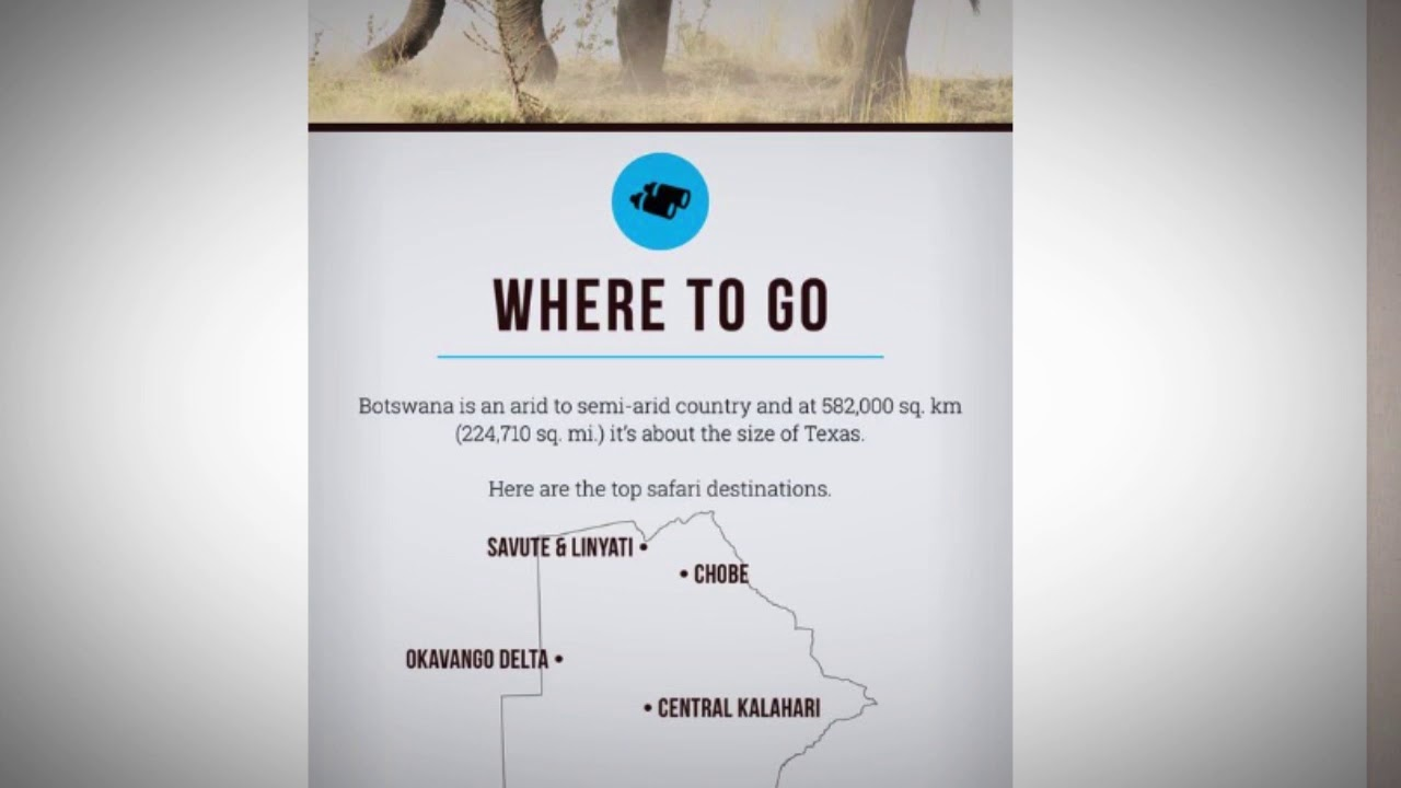 Where to go for a Safari in Botswana?
