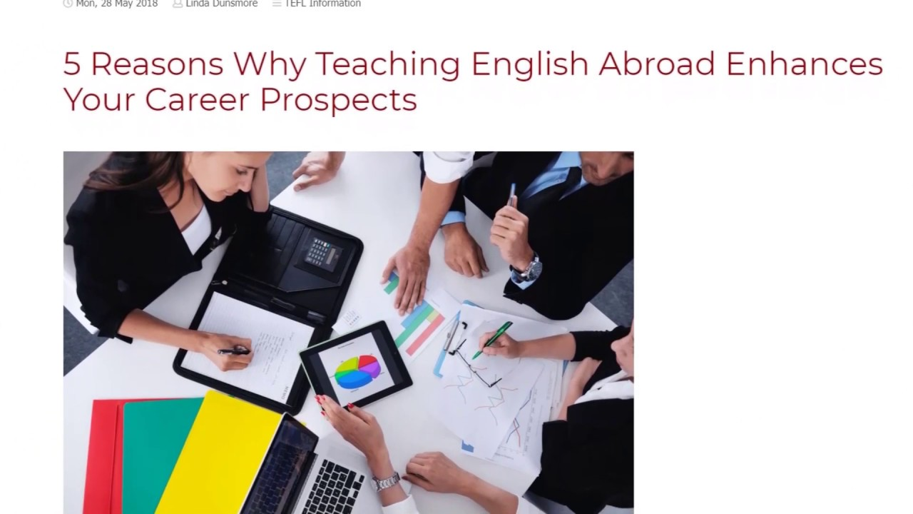 5 Reasons Why Teaching English Abroad Enhances Your Career Prospects | ITTT TEFL BLOG