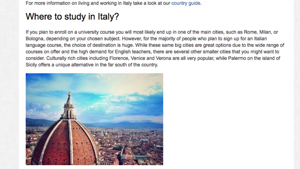 How to Legally Teach English in Italy with a Student Visa