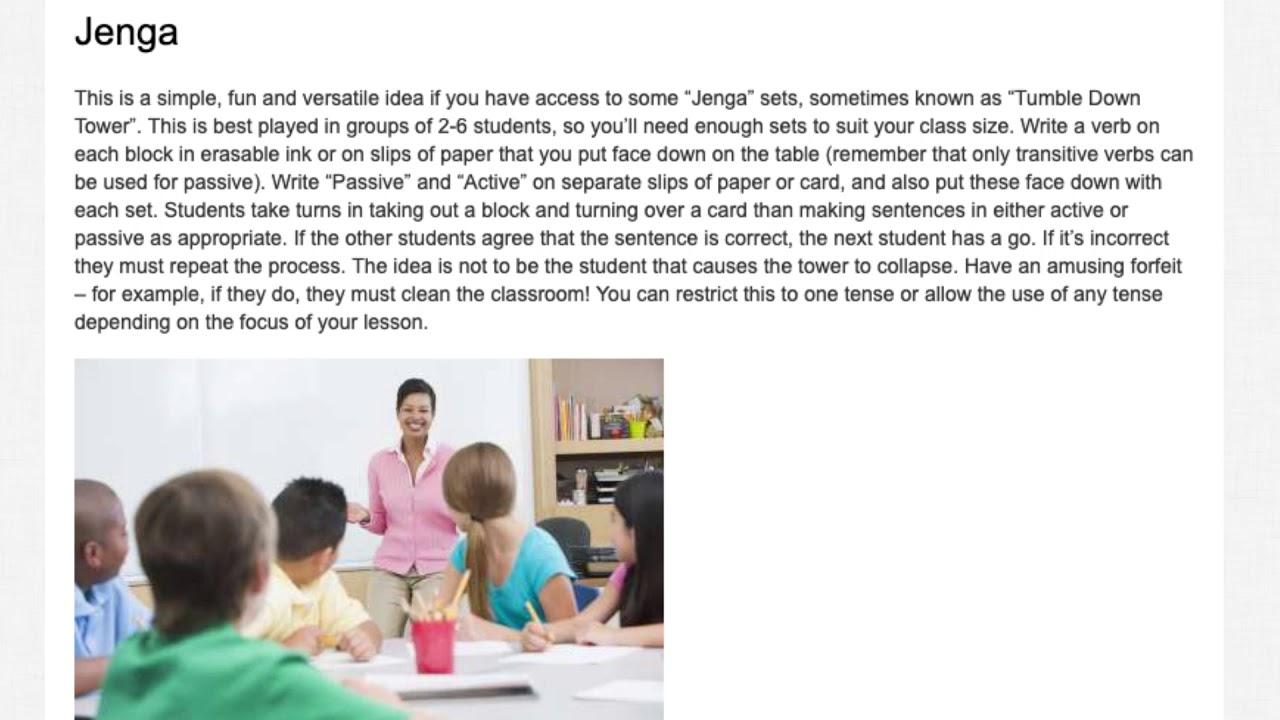 7 Activities for Teaching Passive Voice in the ESL Classroom | ITTT TEFL BLOG