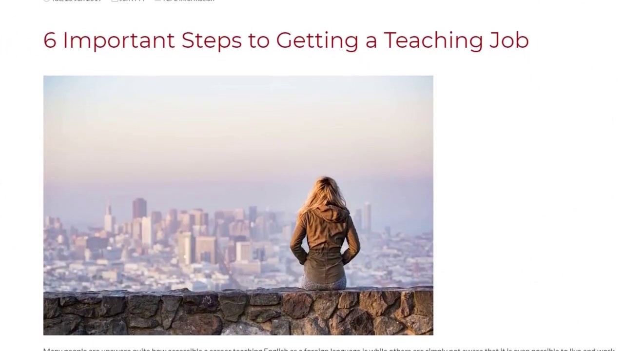 6 Important Steps to Getting a Teaching Job   ITTT TEFL BLOG