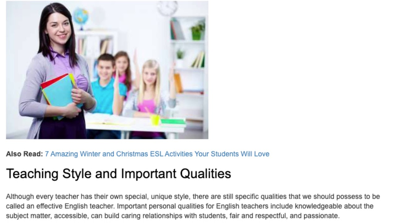 Personal Qualities an English Teacher Should Possess | ITTT TEFL BLOG