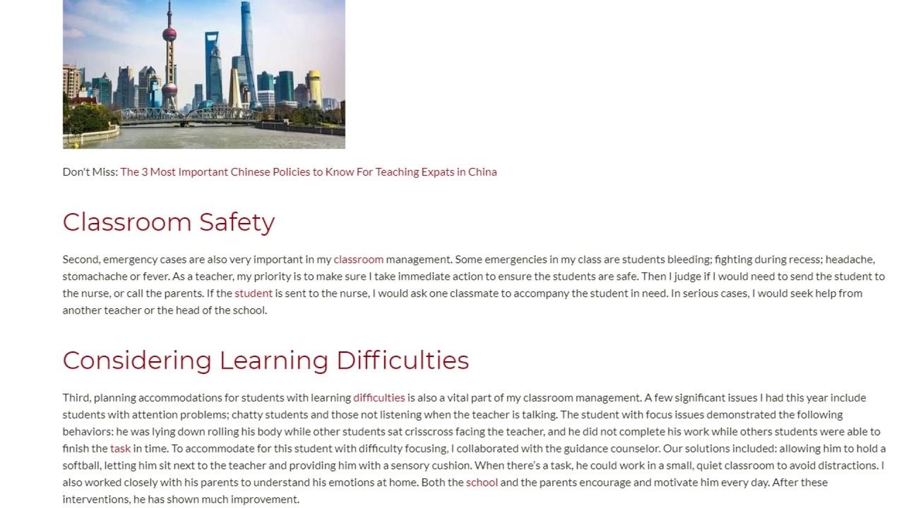 Classroom Management in an International School in Shenzhen, China | ITTT TEFL BLOG