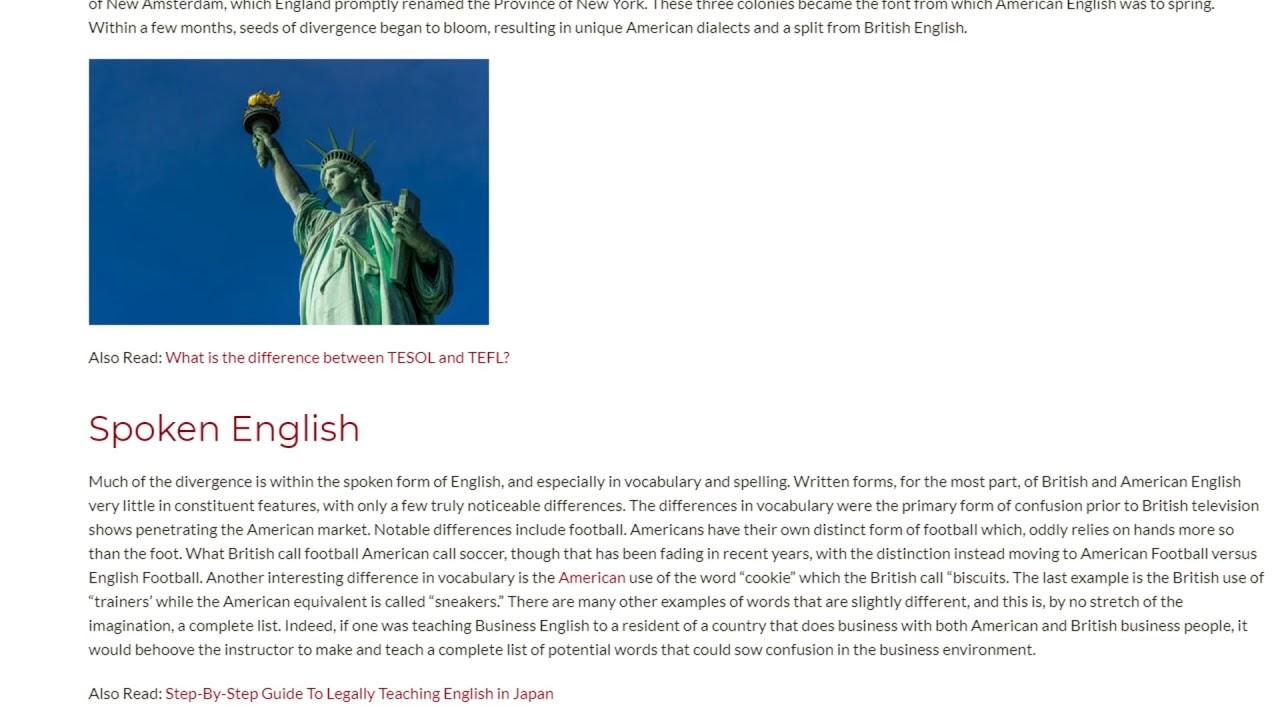 Historical Reasons for The English Diversity | ITTT TEFL BLOG