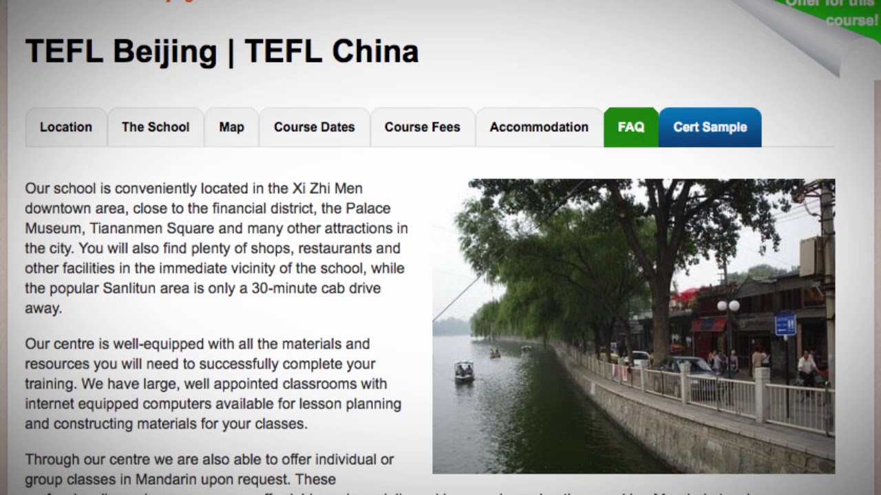 Welcome to Our TEFL / TESOL School in Beijing, China | Teach & Live abroad!