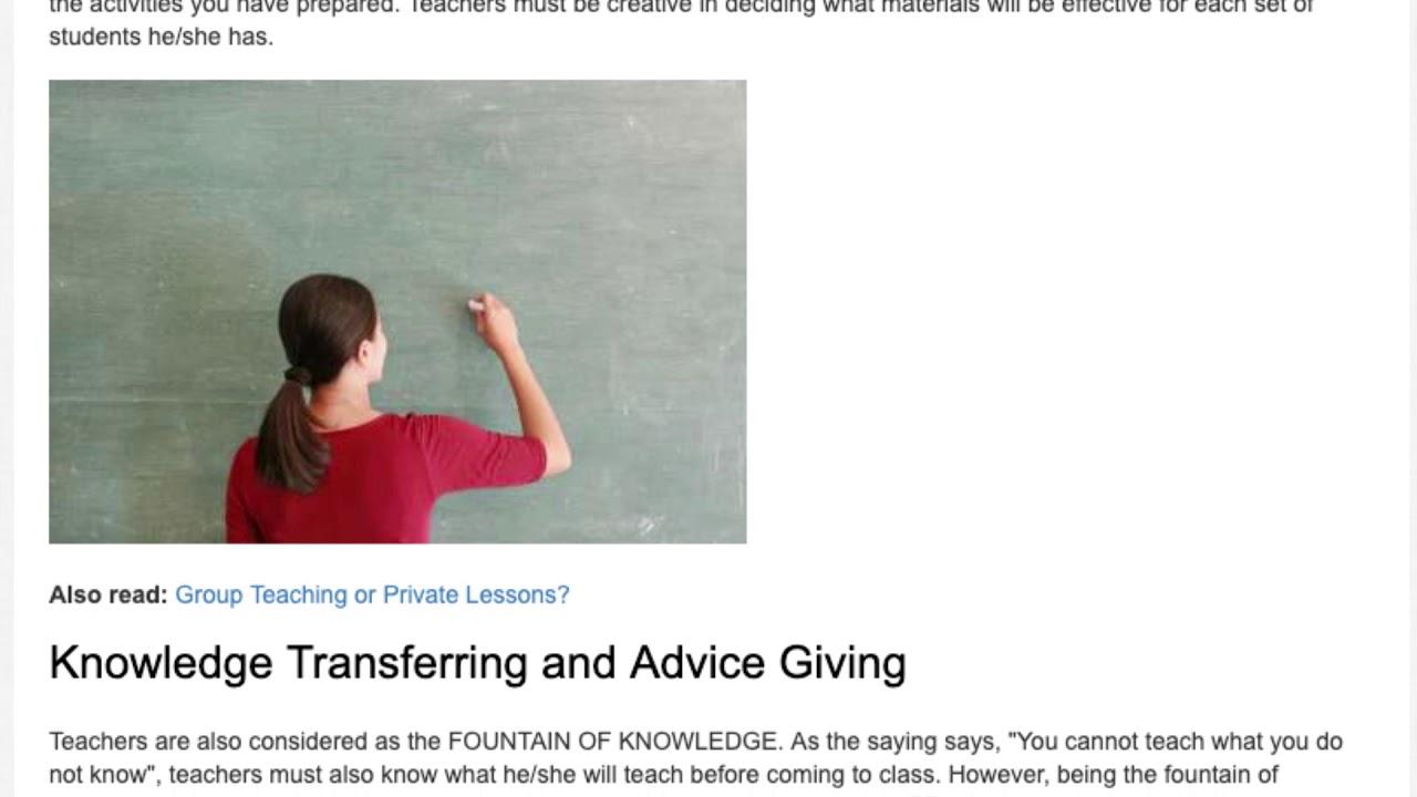 The Practical Importance of a Teacher in a Classroom | ITTT | TEFL Blog