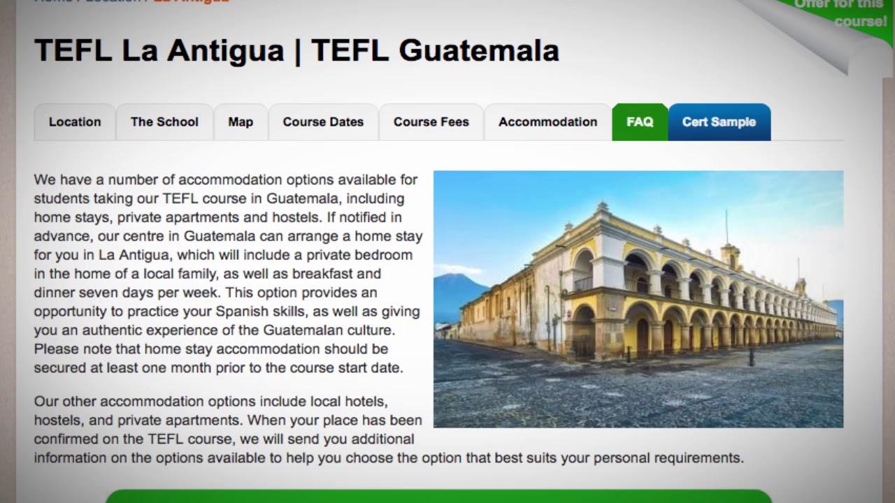 TEFL / TESOL School Accommodation in La Antigua, Guatemala | Teach & Live abroad!