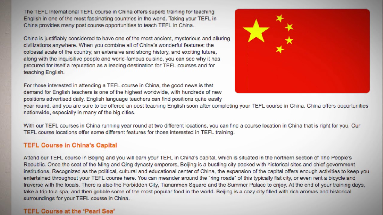 TESOL Course in China | Teach & Live abroad!
